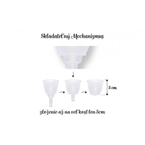 Menstruační kalíšek LUNACUP evolution - jedinečná skládací stopka (patentováno)