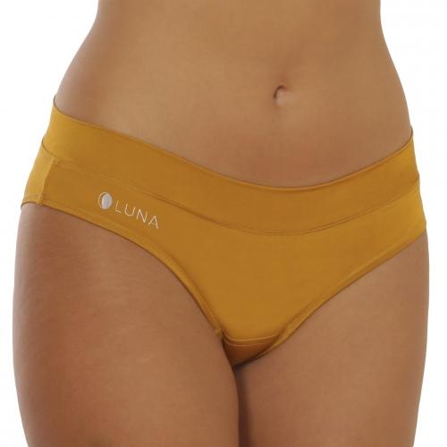 Menstruační kalhotky LUNA - horčicovo-zlaté
